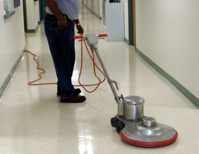 Floor Scrubbing and Buffing